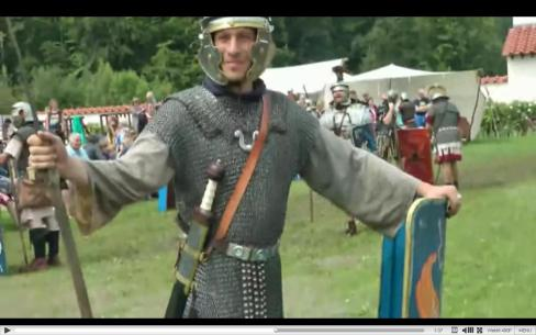 Roman soldier training, Reconstruction (video).