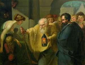 Diogenes sucht einen Menschen